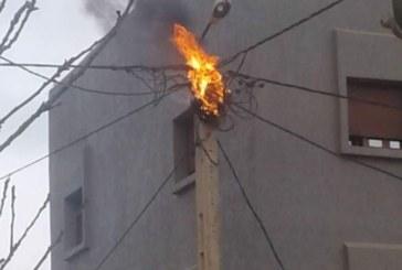 أسلاك أمانديس تشعل النيران ساعة أذان المغرب بتطون