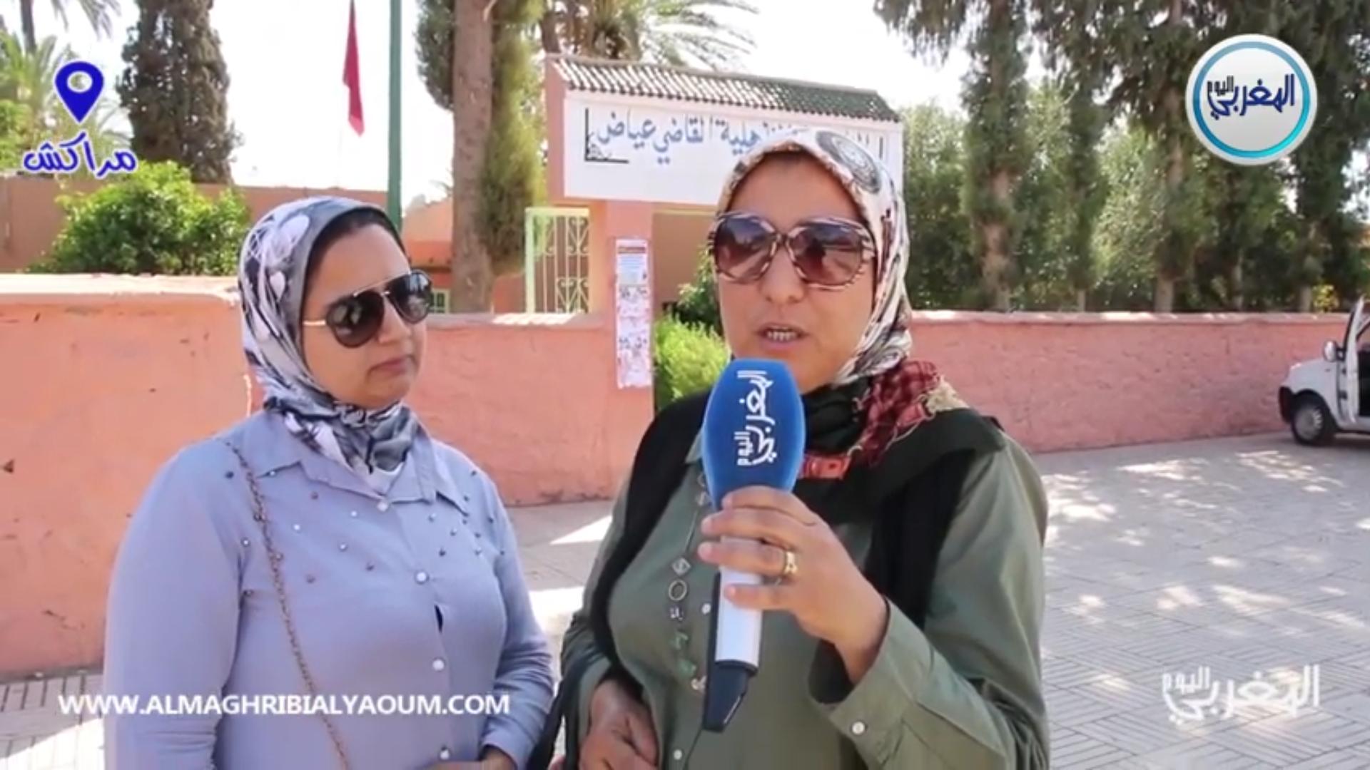 أمهات تلاميذ أشهر ثانوية بمراكش غاضبون ويهددون بالتصعيد + فيديو