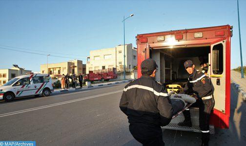 وفاة 3 أشخاص جراء اصطدام حافلتين لنقل العمال بطنجة
