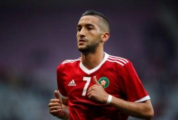 حكيم زياش يستأنف تداريبه مع أسود المغرب