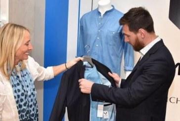 ميسي يعرض علامته التجارية من الملابس