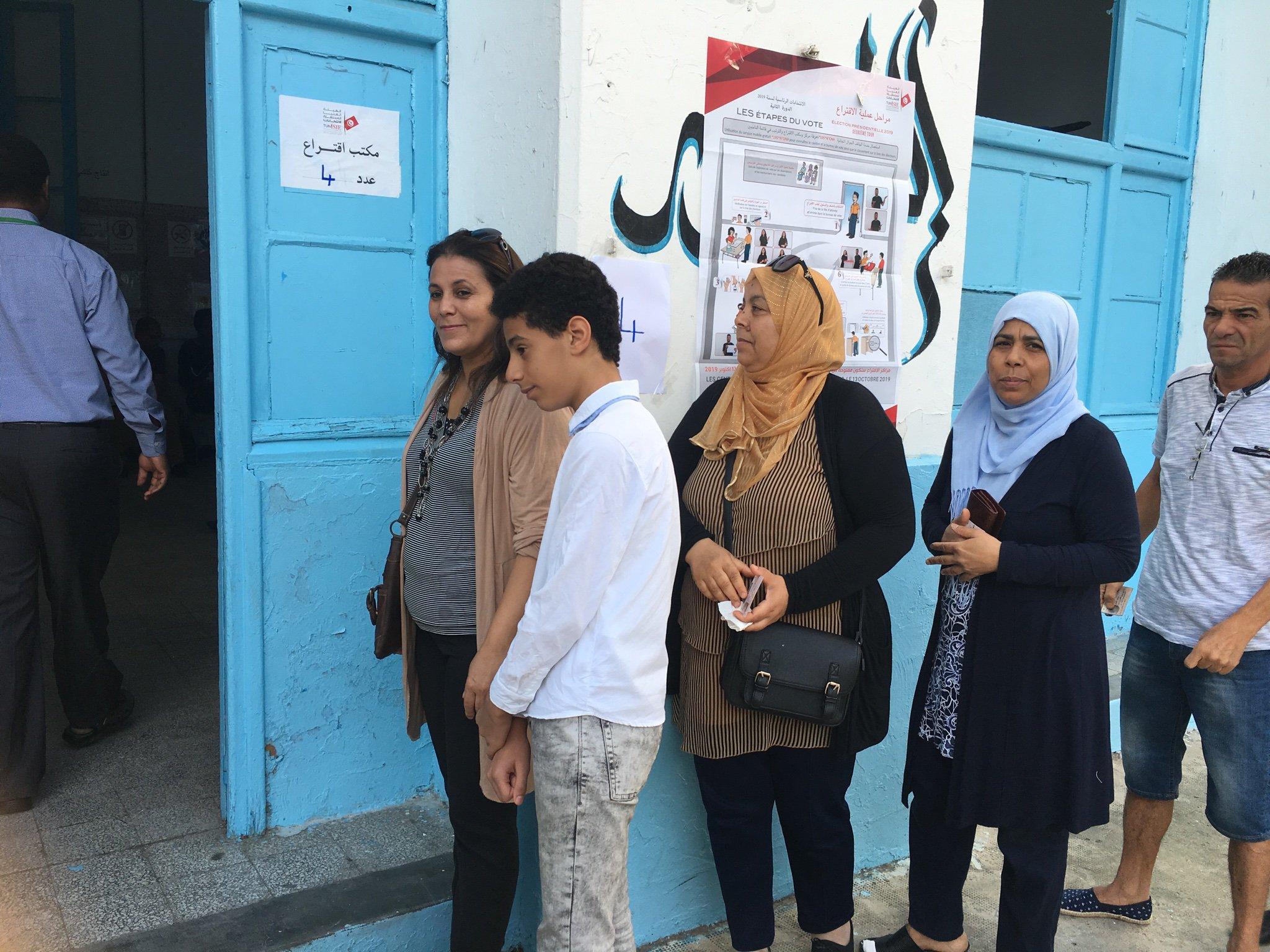 الانتخابات الرئاسية في تونس: نسبة المشاركة تبلغ 17.8 بالمئة عند منتصف النهار