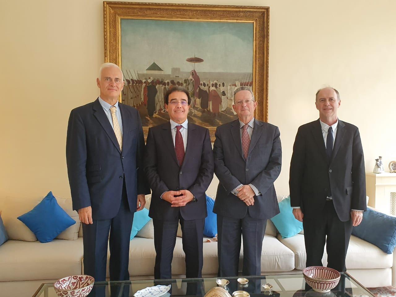 السفير  البلجيكي بالرباط يحتفي بالوزير عبد الكريم بنعتيق بطريقة استثنائية