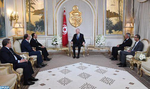 رسالة شفوية من الملك محمد السادس إلى رئيس تونس قيس سعيد