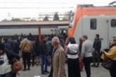 قطار يخرج عن سكته بمحطة بوسكورة