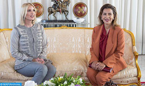 الملك يقيم مأدبة عشاء على شرف إيفانكا ترامب ترأستها صاحبة السمو الملكي الأميرة للا مريم