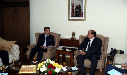 الوزير عبيابة يستقبل المدير العام للمنظمة الإسلامية للتربية والعلوم والثقافة
