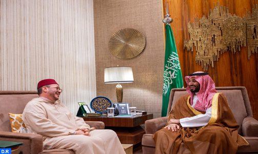 ولي عهد المملكة العربية السعودية يستقبل مستشار صاحب الجلالة  فؤاد عالي الهمة الذي أبلغه رسالة شفوية من جلالة الملك