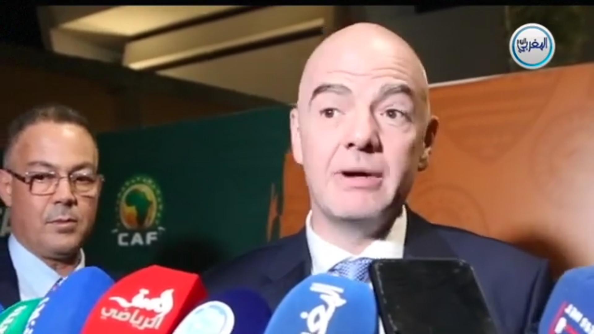 """بالفيديو… جياني إنفانتينو رئيس الفيفا يكشف ل""""المغربي اليوم"""" وصفته السحرية لتطوير كرة القدم الإفريقية"""