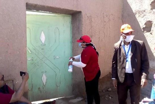 مراكش : السلطات المحلية بايت ايمور تشن الحرب على فيروس كورونا بالتعقيم والنظافة والتوعية