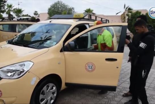 بالفيديو… عملية تعقيم سيارات الأجرة الصغيرة والكبيرة بمراكش