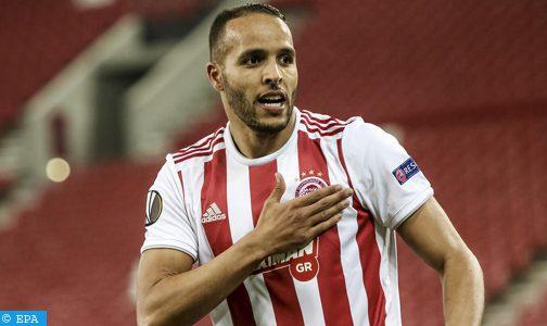 المهاجم المغربي يوسف العربي يمنح نادي أولمبياكوس لقب بطل اليونان
