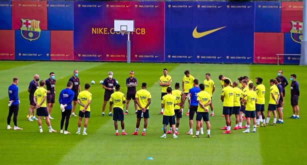 منذ توقف المنافسات… لأول مرة لاعبو برشلونة يتدربون معا