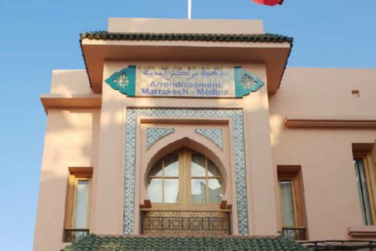 المجلس البلدي بتعاون مع مقاطعة مراكش المدينة يقومون بتأمين ممرات المؤسسات التعليمية بحواجز أمنة
