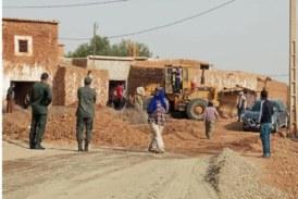 الكراب يتفقد مشروع بناء ثانوية امزوضة التأهيلية ويزور ورش إنجاز طريق بوزوكة