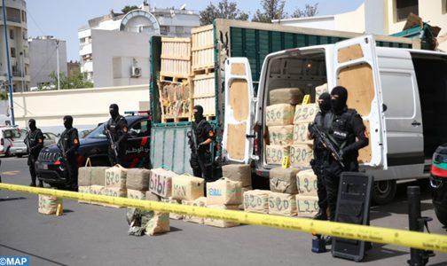 حجز 13 طنا من مخدر الشيرا وتوقيف شخص بضواحي البيضاء