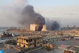 انفجار ضخم في مرفأ بيروت يوقع عشرات الإصابات