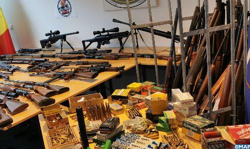 حجز ببروكسيل ترسانة كبير من الأسلحة وذخيرة
