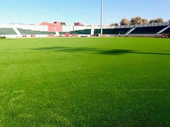 الملعب الشرفي لرجاء بني ملال على وشك الانتهاء