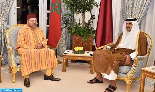 اتصال هاتفي بين الملك محمد السادس وأمير قطر لتجديد دعم بلاده للمغرب في قضية الصحراء