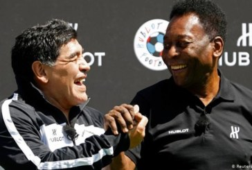 بيليه ينعي صديقه مارادونا: أتمنى أن نلعب الكرة معا في السماء