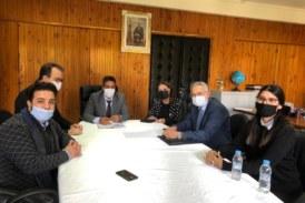 """جمعية """" الأحياء إدماج"""" تعقد  جلسة عمل مع المدير الإقليمي للمديرية الإقليمية بالمحمدية"""