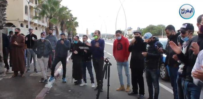 الأساتذة المتعاقدون يشعلون شوارع مدينة الصويرة… احتجاجات بنكهة البحث عن العيش الكريم + فيديو