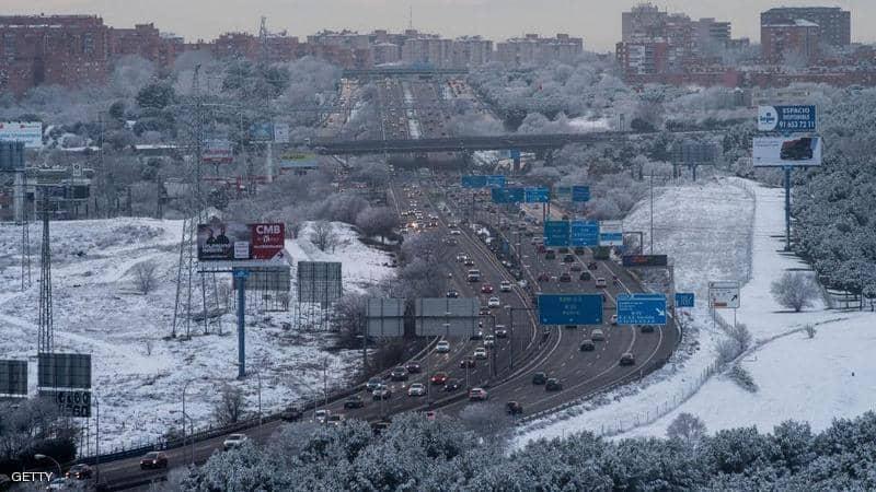 """"""" الثلوج """" تمنع ريال مدريد من مباراة اليوم"""